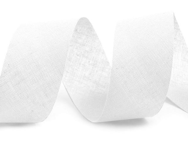 Šikmý prúžok bavlnený šírka 30mm nezažehlený