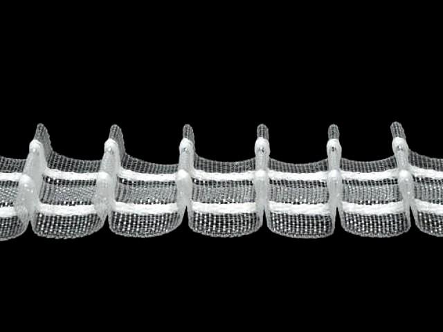Záclonovka šíře 25 mm tužkové řasení