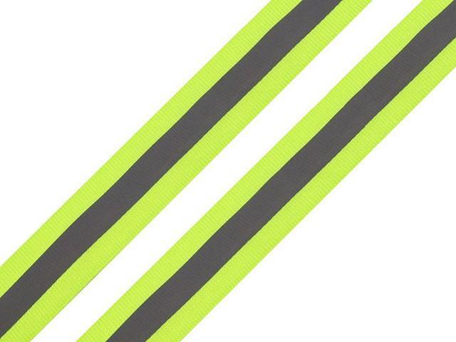 Reflexní páska šíře 25 mm na tkanině