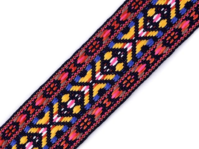 Vzorovka / popruh indiánský motiv šíře 38 mm