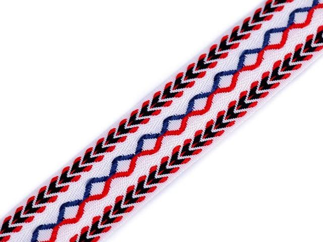 Prýmek / vzorovka indiánský motiv šíře 25 mm
