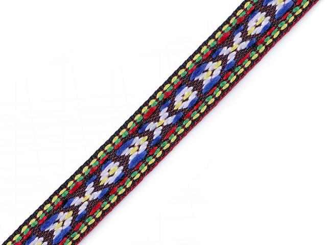 Prámik / vzorovka indiánsky motív šírka 10 mm