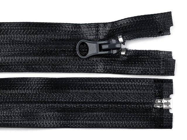 Voděodolný zip šíře 7 mm délka 65 cm spirálový