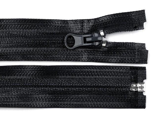 Vodeodolný zips šírka 7 mm dĺžka 80 cm špirálový