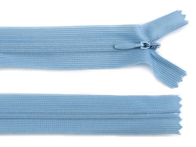 Špirálový zips skrytý šírka 3 mm dĺžka 50 cm dederón