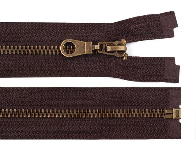 Altmessing Reißverschluss Breite 6 mm Länge 80 cm Jacken
