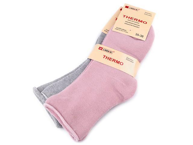Dámské bavlněné ponožky thermo se zdravotním lemem
