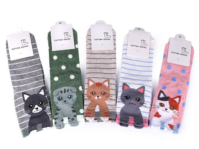 Dievčenské ponožky mačka