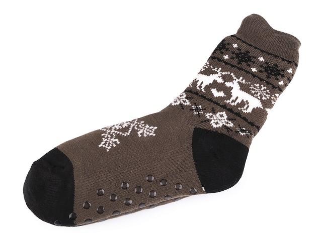 Pánske ponožky zimné  s protišmykom