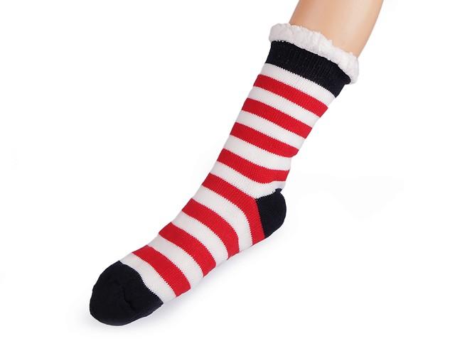 Ponožky zimné s protišmykom, dlhé