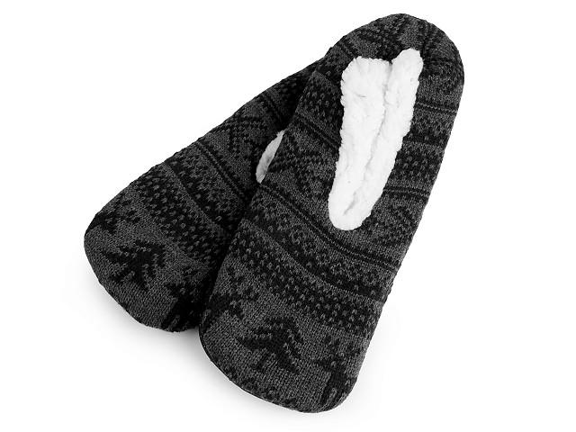 Pánska zimná domáca obuv s protišmykom