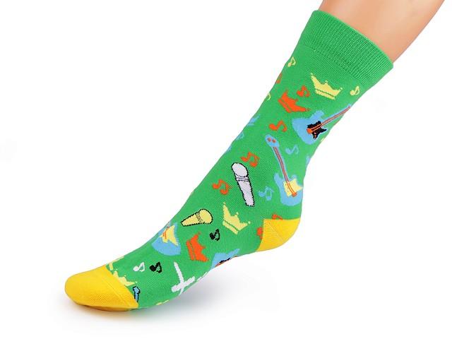 Dámské / dívčí bavlněné ponožky vysoké, s obrázky