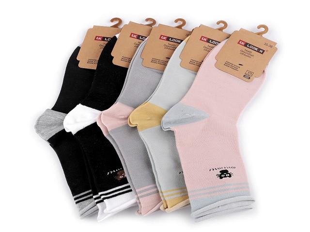 Dámské bavlněné ponožky se zdravotním lemem