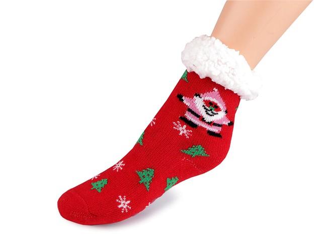 Dětské vánoční ponožky zimní s protiskluzem