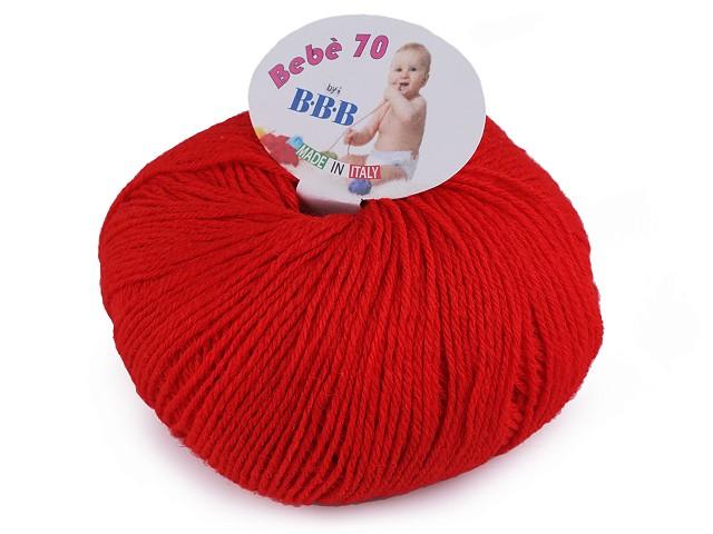 Pletací příze / vlna Bebé 70; 50 g