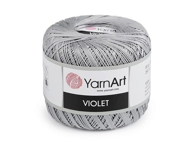 Bavlnená priadza háčkovacia Violet 50 g