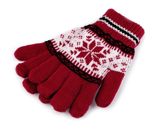 Detské pletené rukavice nórsky vzor
