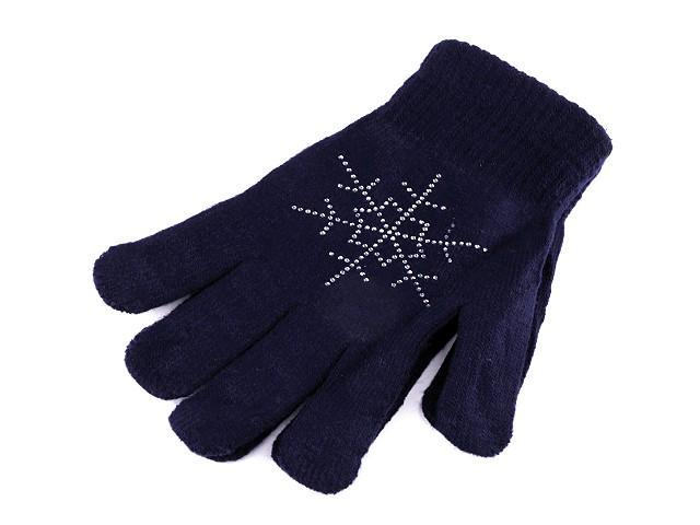 Dámské / dívčí pletené rukavice s vločkou