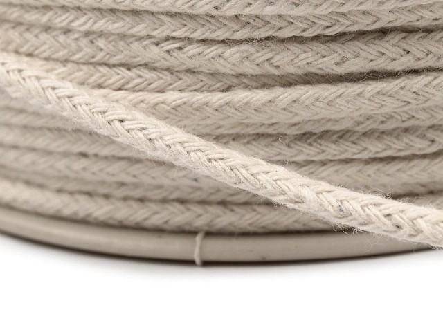 Odevná šnúra / bavlnená priadza / knot Ø2 mm splietaná