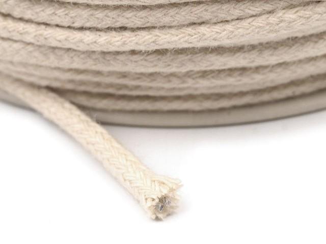 Oděvní šňůra / bavlněná příze / knot Ø3 mm splétaná