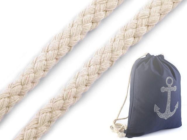 Oděvní šňůra na vak Ø10 -12 mm splétaná