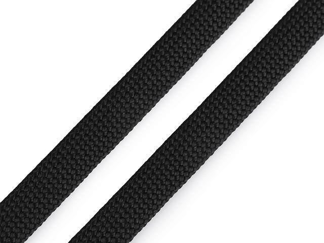 Polyesterová šnúra plochá / dutinka šírka 12 mm