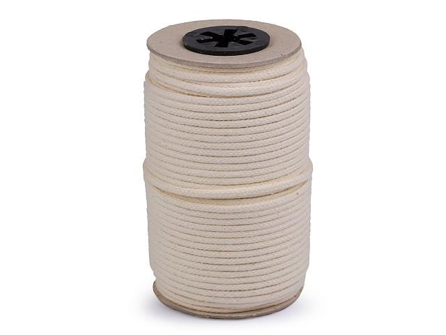 Bavlnená šnúra s dušou 2x3 mm