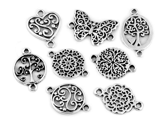Metallverzierung Filigran Schmetterling, Mandala, Herz, Baum