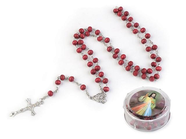 Rosenkranz aus Holzperlen in Geschenkschachtel