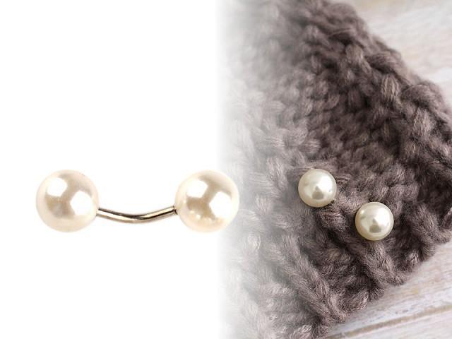 Ozdobné zapínání s perlou / knoflík