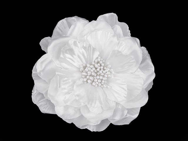 Brošňa / ozdoba ruža s perleťovým leskom Ø13 cm
