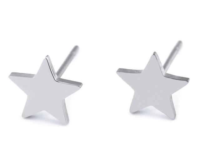 Náušnice z nerezové oceli hvězda