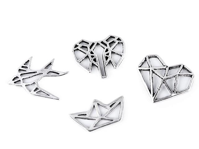 Ozdobný diel origami lastovička, loďka, srdce, slon