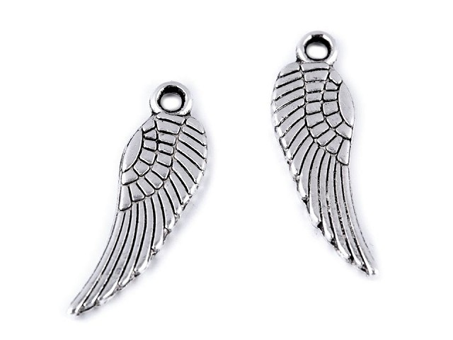 Prívesok anjelské krídlo 5x17 mm