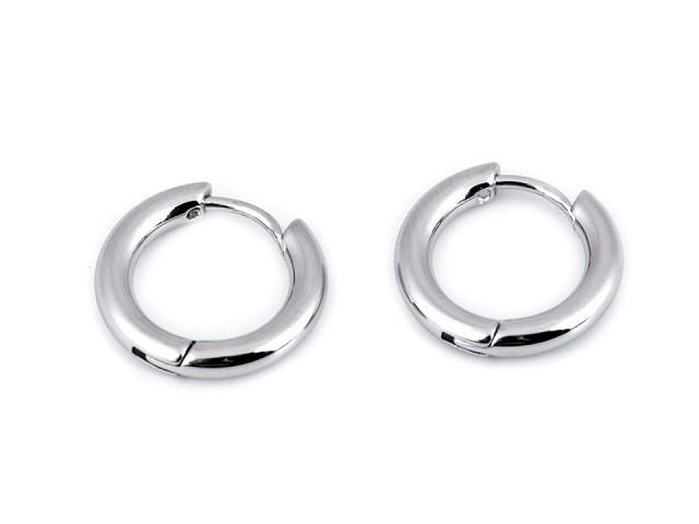 Náušnice z nerezové oceli kruhy