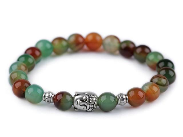 Buddha náramok achát multicolor, dámsky