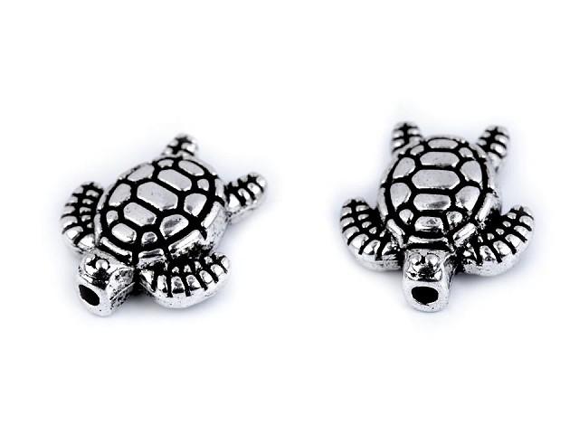 Kovová ozdoba morská korytnačka 12x13 mm