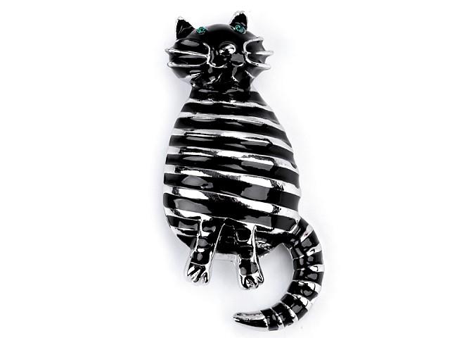 Brošňa mačka pruhovaná