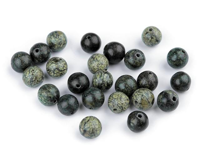 Minerálové korálky Serpentin ruský zelený Ø8 mm