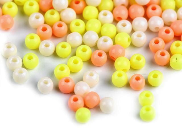 Plastové korálky Color Ø4 mm barevný mix