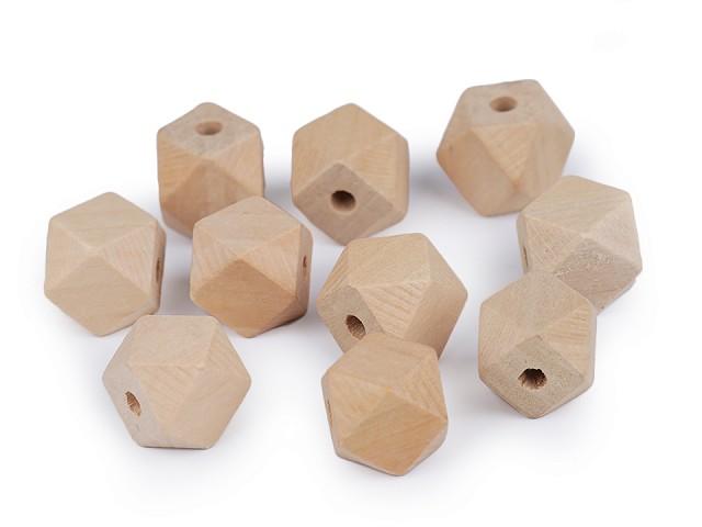 Drevené korálky nelakované 15x15 mm