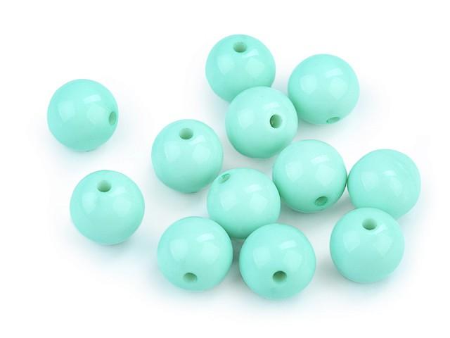 Plastové korálky Color Ø12 mm