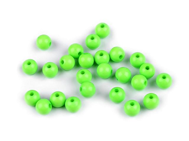 Plastové korálky Color Ø8 mm