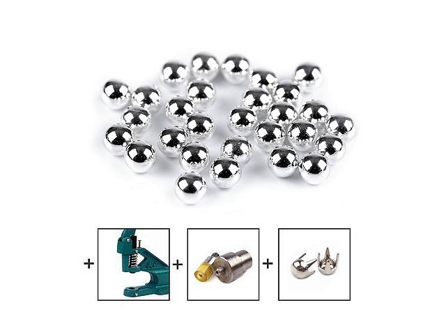 Perly / koráliky Ø6 mm a 8 mm na nítovanie  bez dierok