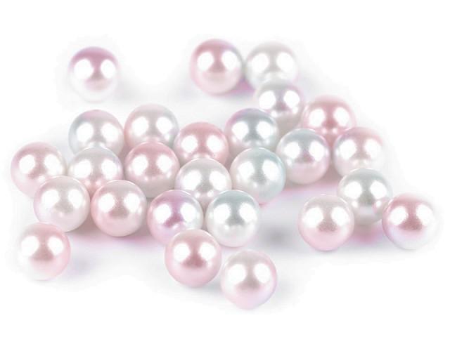 Perly / kuličky bez dírek Ø8 mm k nýtování duhované