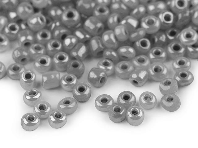 Maggyöngyök 6/0 - 4 mm gyöngyházas, nem átlátszó