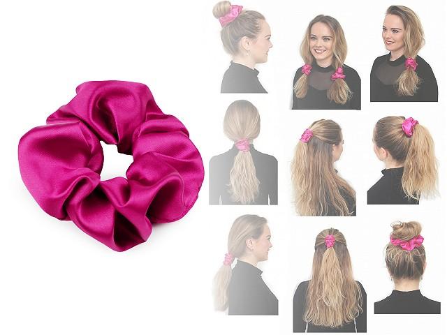 Saténová scrunchie gumička do vlasov