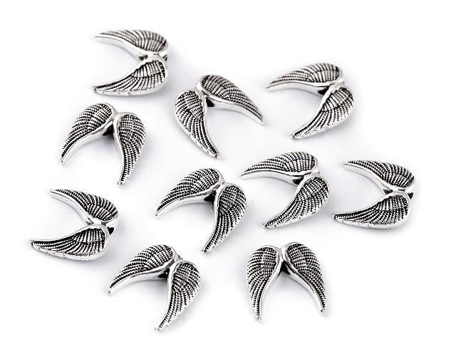 Łącznik do biżuterii skrzydła 15x15 mm