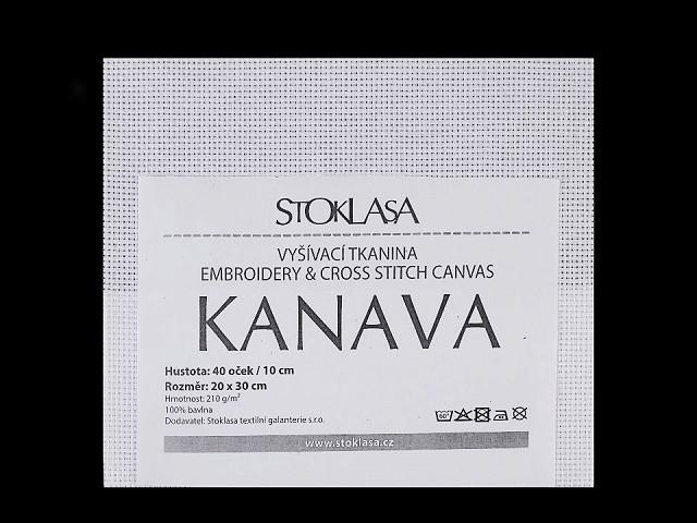 Vyšívací tkanina Kanava 20x30 cm 40 oček