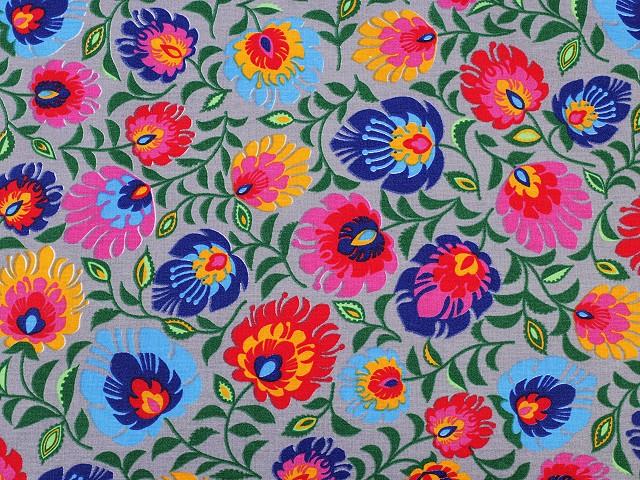 Cotton Fabric Traditional Folk Style